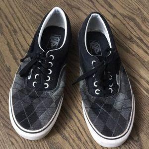 Vans Sneakers Argyle Checkered Grey Black